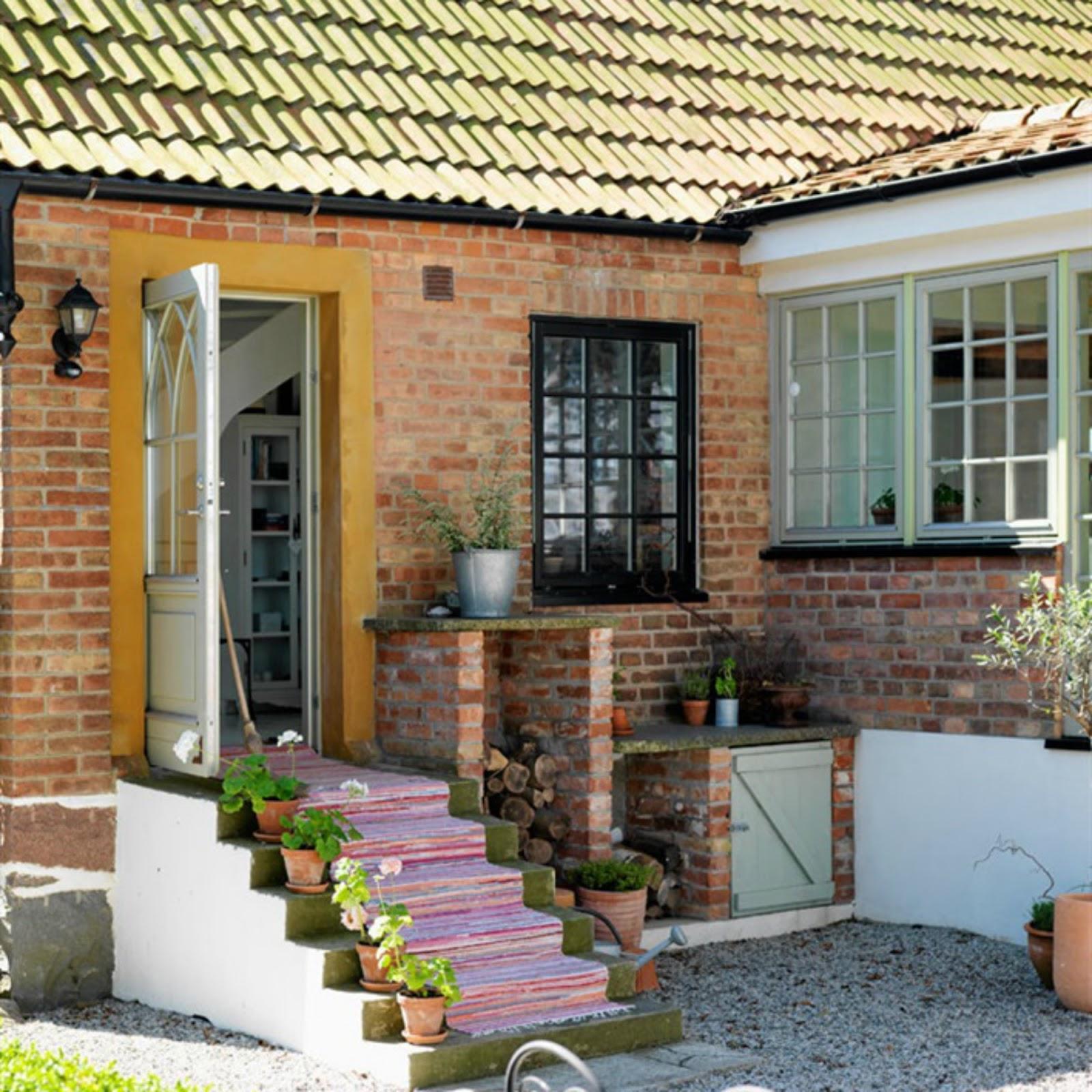 Decoraci n f cil una casa de campo r stica y minimalista for Casa minimalista rustica