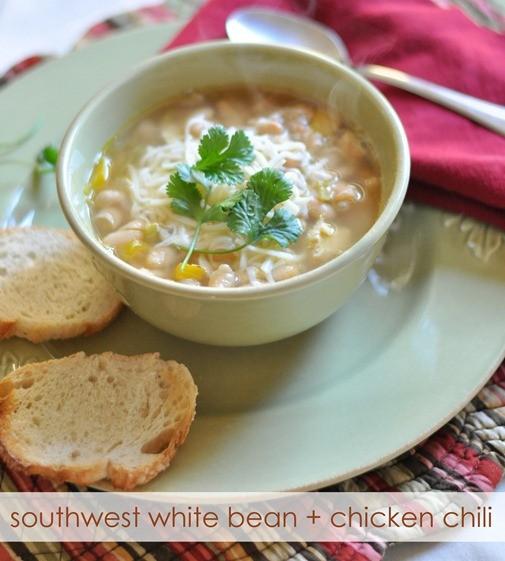 Centsational Girl's Southwest White Bean & Chicken Chili.