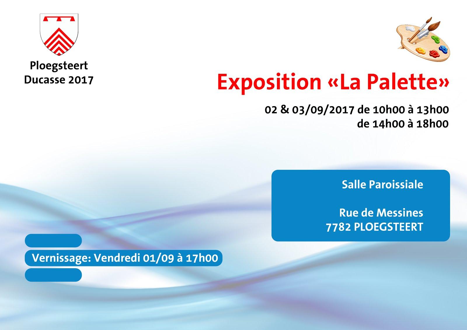 Vendredi 1 septembre expo La palette