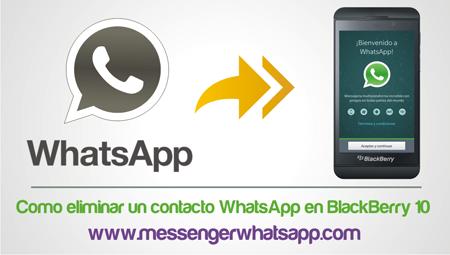 Como eliminar un contacto WhatsApp en BlackBerry 10