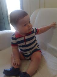 Samuel com nove meses