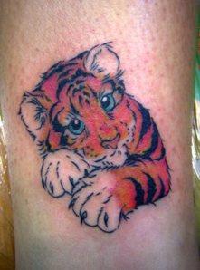 tattoo filhote de tigre