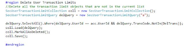 Microsoft EntitySpaces Delete Collection