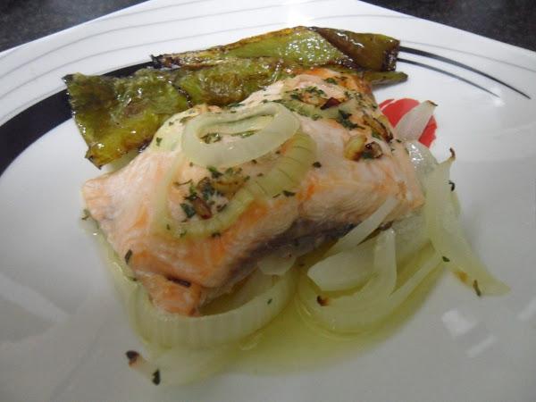 Salmon al horno cocinar en casa es for Cocinar langostinos al horno