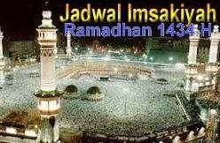 Jadwal Imsakiyah Ramadhan 1434H Lengkap 2013