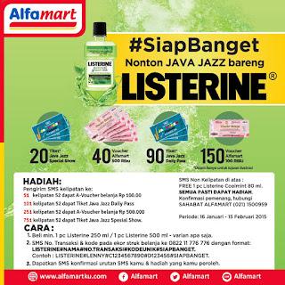 Info Promo - Promo Undian Listerine #SiapBanget Berhadiah Tiket Java Jazz dan Ratusan Voucher Alfamart