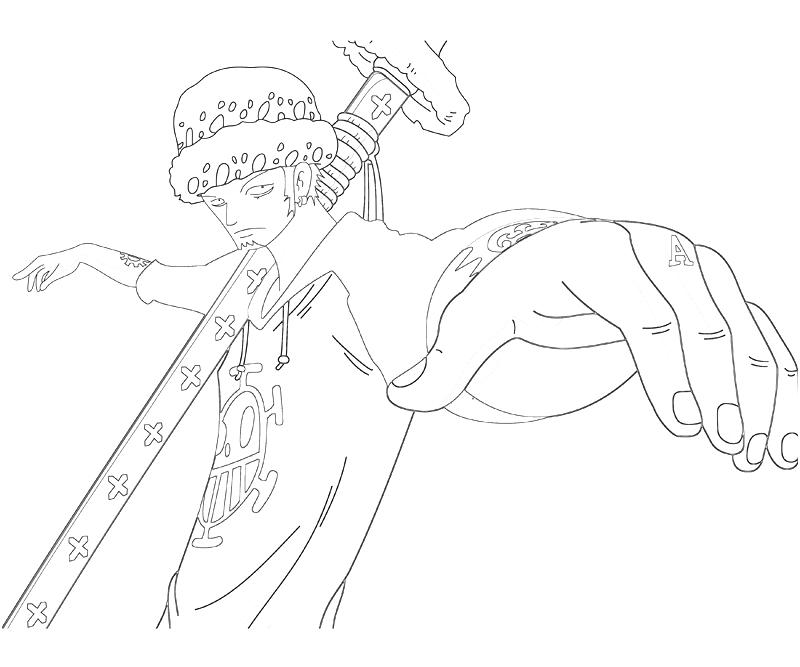 printable-one-piece-trafalgar-law-skill-coloring-pages