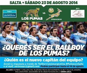 Ganadores del concurso Ball Boys de Los Pumas