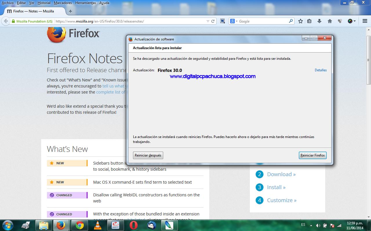 Nueva version de Mozilla Firefox
