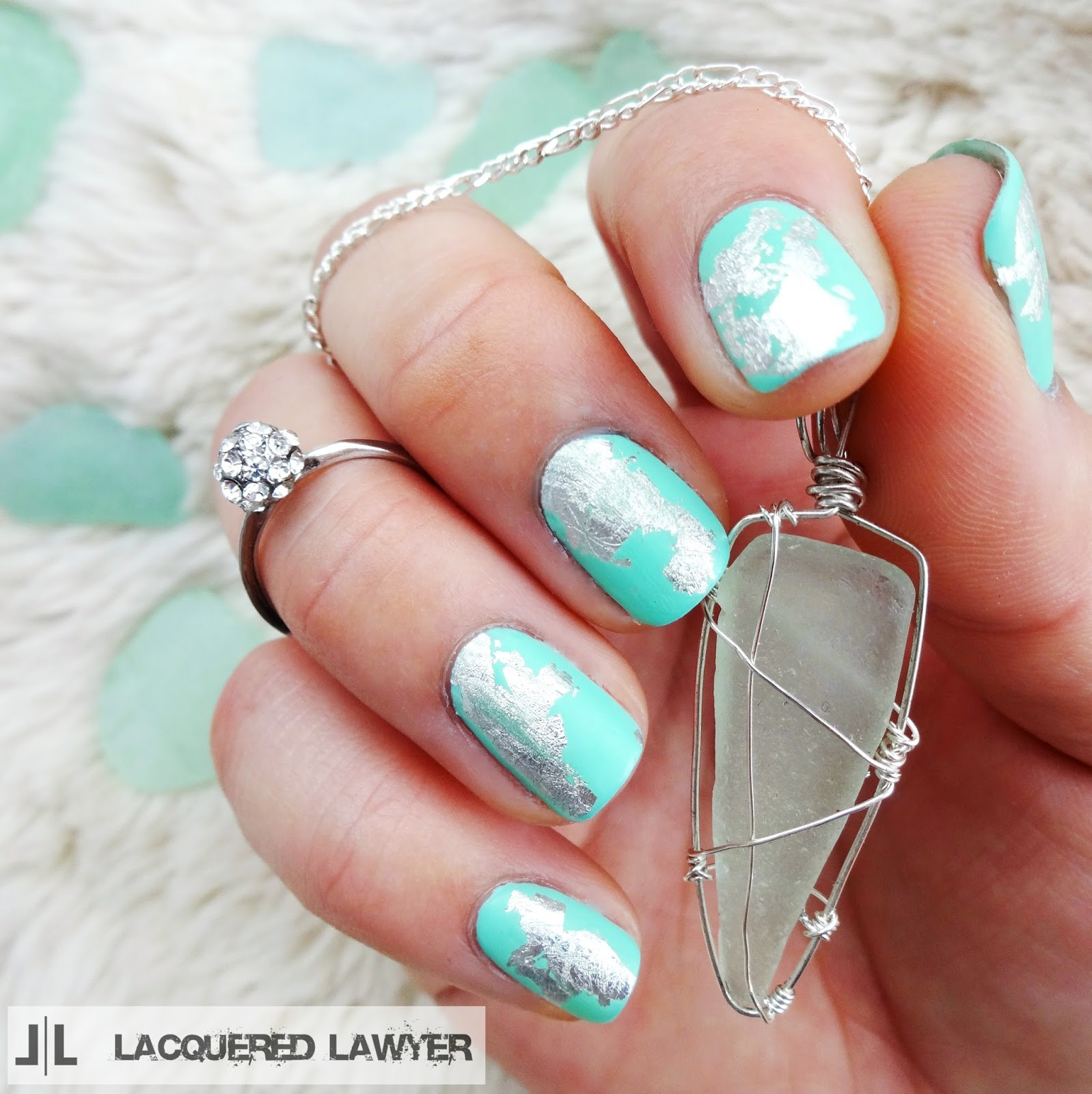 Sea Glass Serenity Nail Art