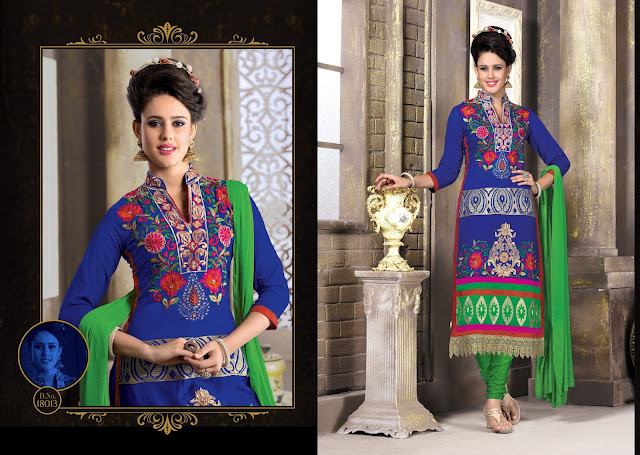Diva – Chanderi Silk Long Salwar Suit Supplier