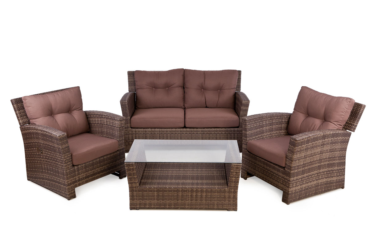 Outside Edge Garden Furniture Blog Rattan 4 Seater Sofa Set For Outdoor With Reclining Lounge