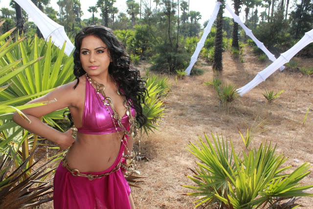 actress rachana mourya navel show photos