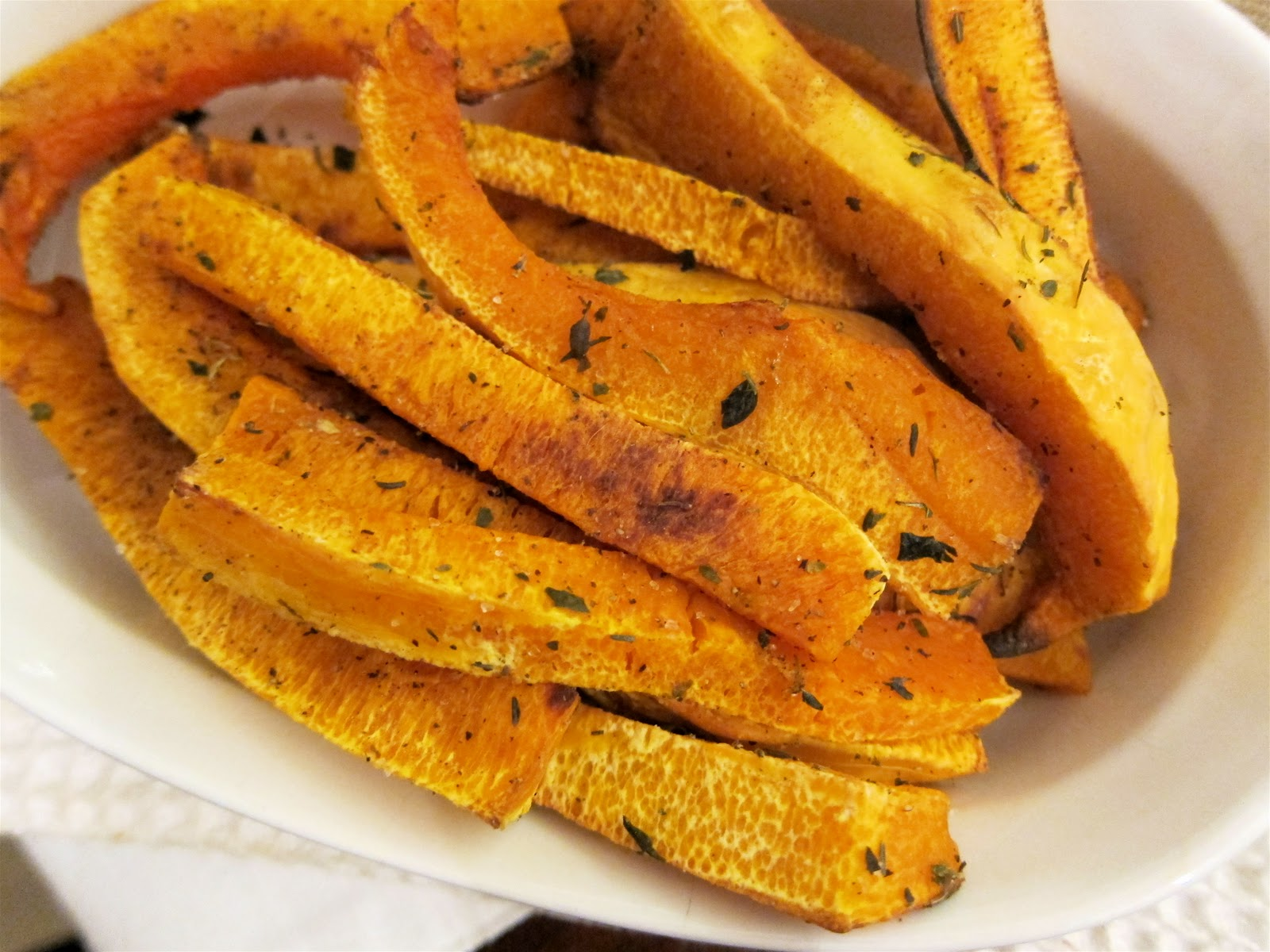 "Mag-Pie's & more: Herb-Roasted Butternut Squash ""Fries"""