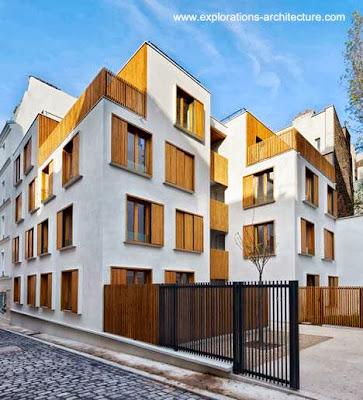 Edificio residencial contemporáneo de baja altura en París, Francia