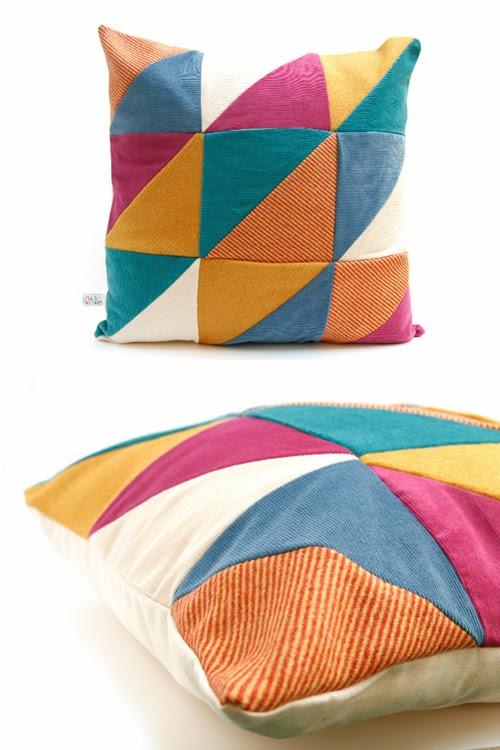 lisa 39 s factory nouveaux coussins en patchwork. Black Bedroom Furniture Sets. Home Design Ideas