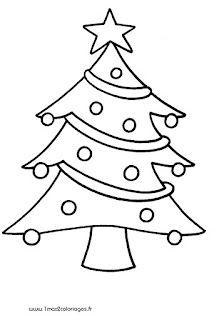 coloriage sapin noel