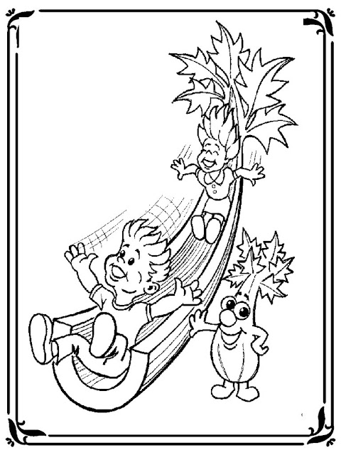 celery coloring book pages to print