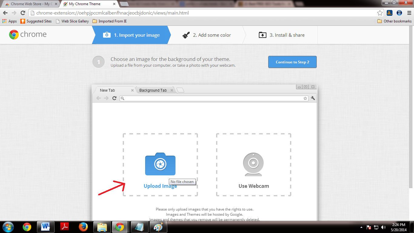 how to create your own theme for google chrome