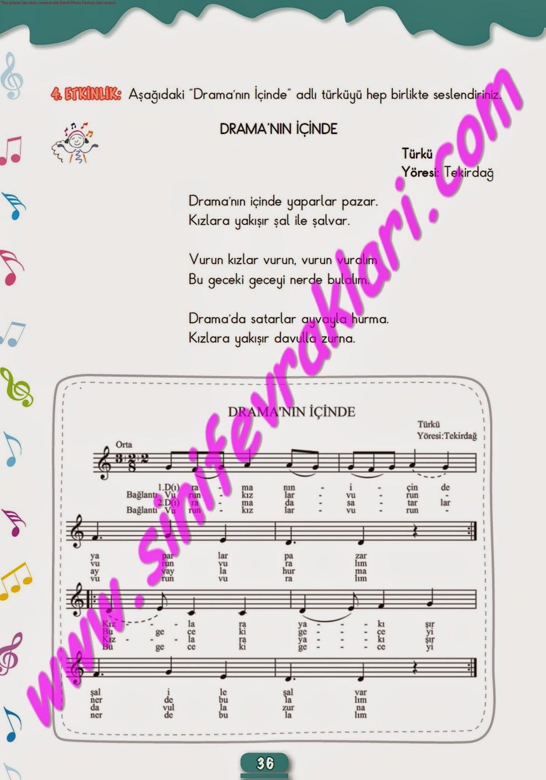 5sınıf Müzik çalışma Kitabı Cevapları Meb Yayınları Sayfa 36 Kpss