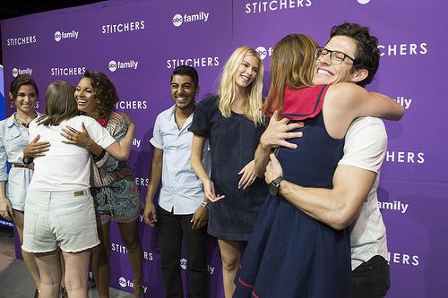 Stitchers meet and greet with Emma Ishta, Kyle Harris, Ritesh Rajan, Salli Richardson-Whitfield and Allison Scagliotti at the D23 expo 2015