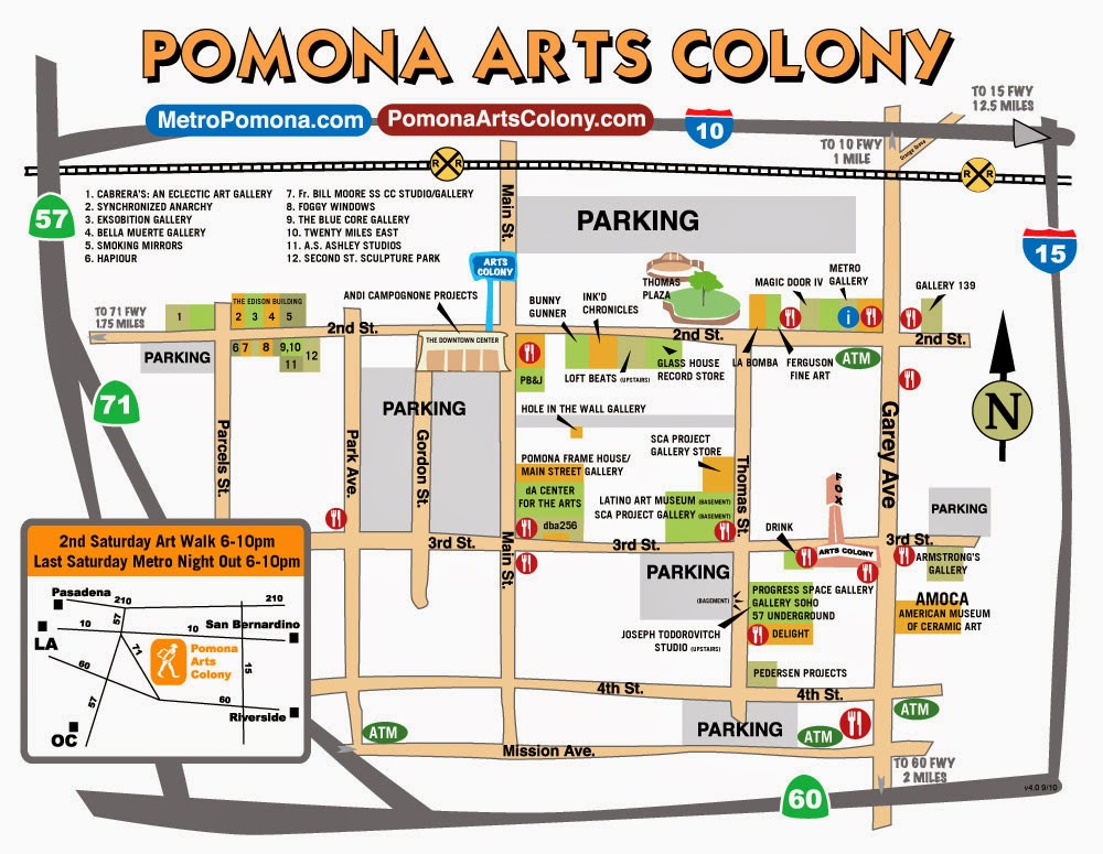 Static Map Aerial Photography Map Of Pomona CA California Best
