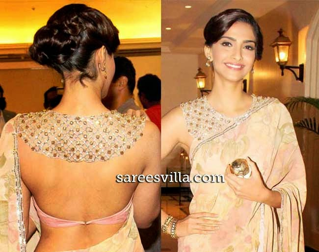 Sonam Kapoor In Backless Blouse