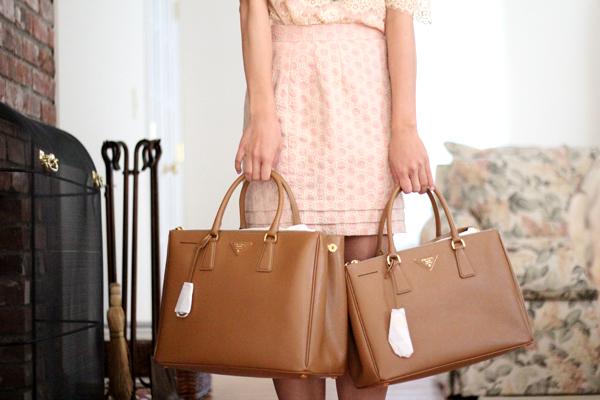 prada saffiano lux small tote bag