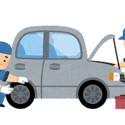 車の整備のイラスト(車検)