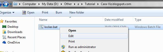 Cara Menambahkan Password Pada Folder Tanpa Software Tambahan