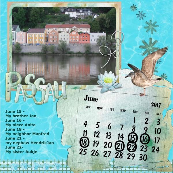 June 2017 - Dutchie's calendar.