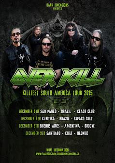 Overkill Brazil tour 2015