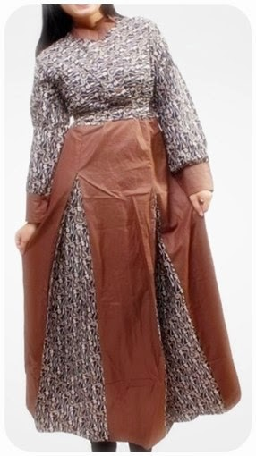 Model Gamis Batik Kombinasi Untuk Ibu Hamil Model Fashion Terkini
