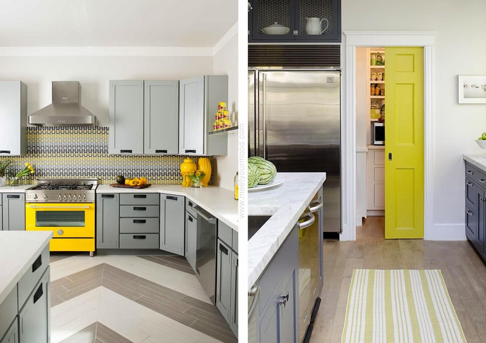 Parete Cucina Gialla : Oggi partiamo dalla cucina, la palette parte ...