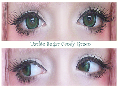 Barbie Sugar Candy Green colored contacts