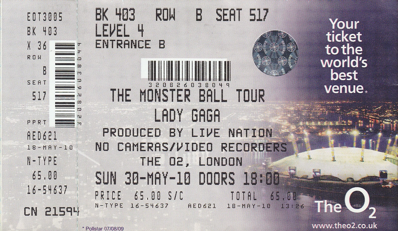Sight And Sound Concert Tickets From London