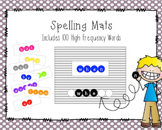https://www.teacherspayteachers.com/Product/High-Frequency-Word-Spelling-Mats-1939669