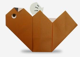 Hướng dẫn cách gấp con Rái Cá Biển bằng giấy đơn giản - Xếp hình Origami với Video clip