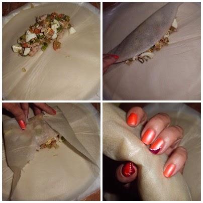 como doblar los rollitos chinos