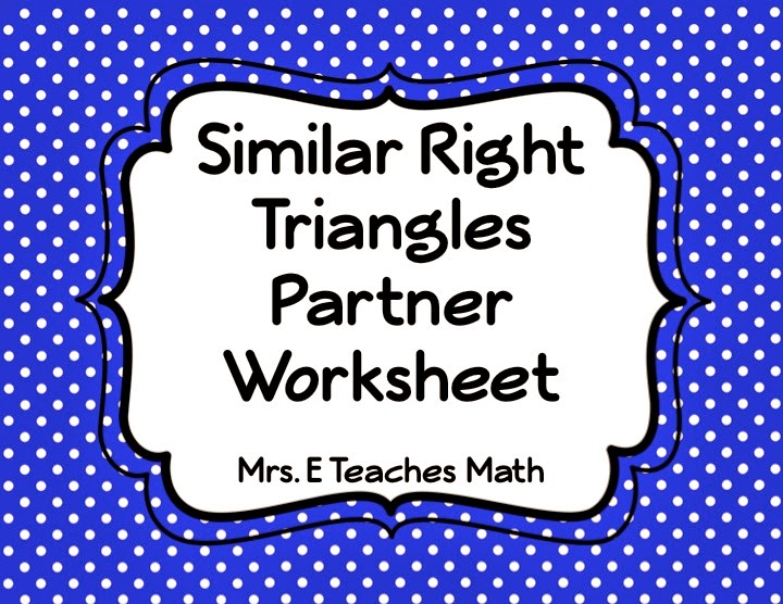 special right triangles 45 45 90 worksheet – Similar Right Triangles Worksheet
