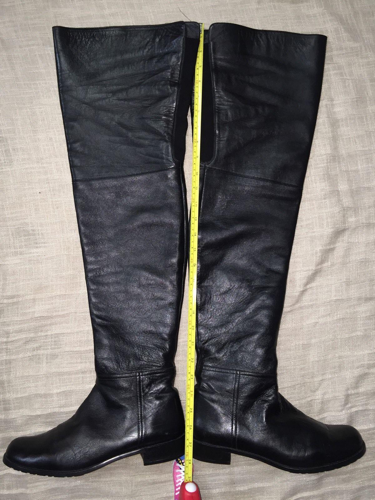 ebay leather stuart weitzman quot hilo quot thigh high boots