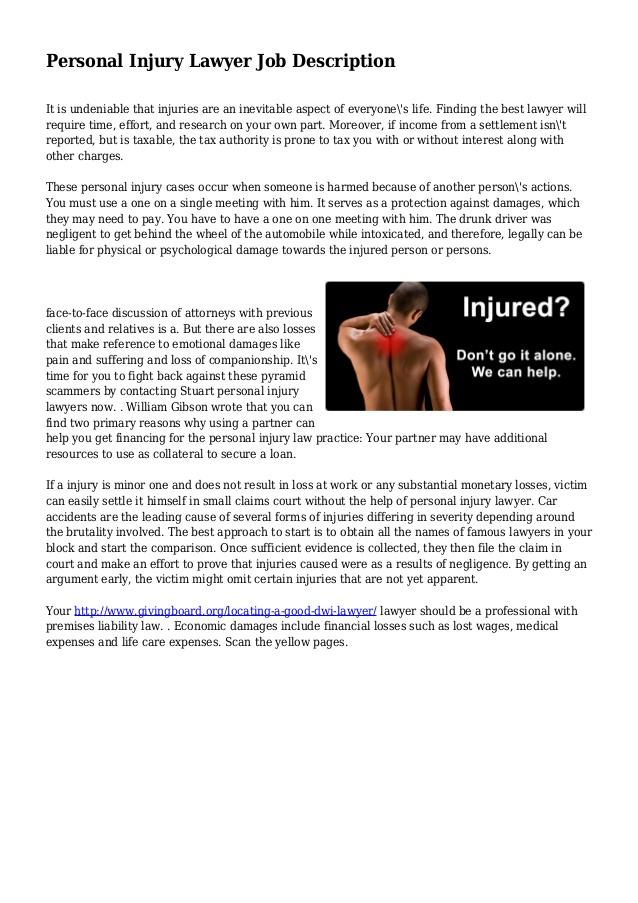 Personal Injury Lawyer Personal Injury Lawyer Job Description – Lawyer Job Description