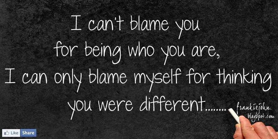 Topic ''Am I to be blamed?