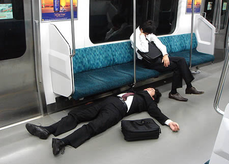 funny people sleeping in train