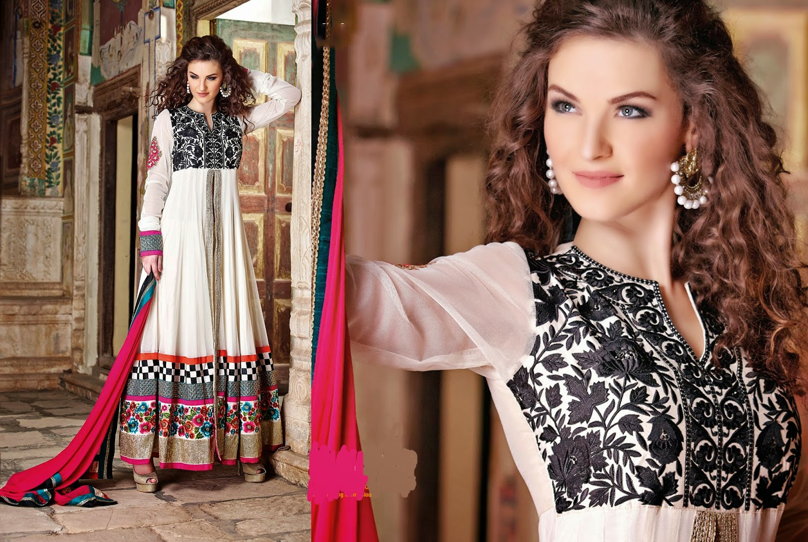 Lavish Party Wear Long Length Suits Collection With Pics 2014 Ooooch