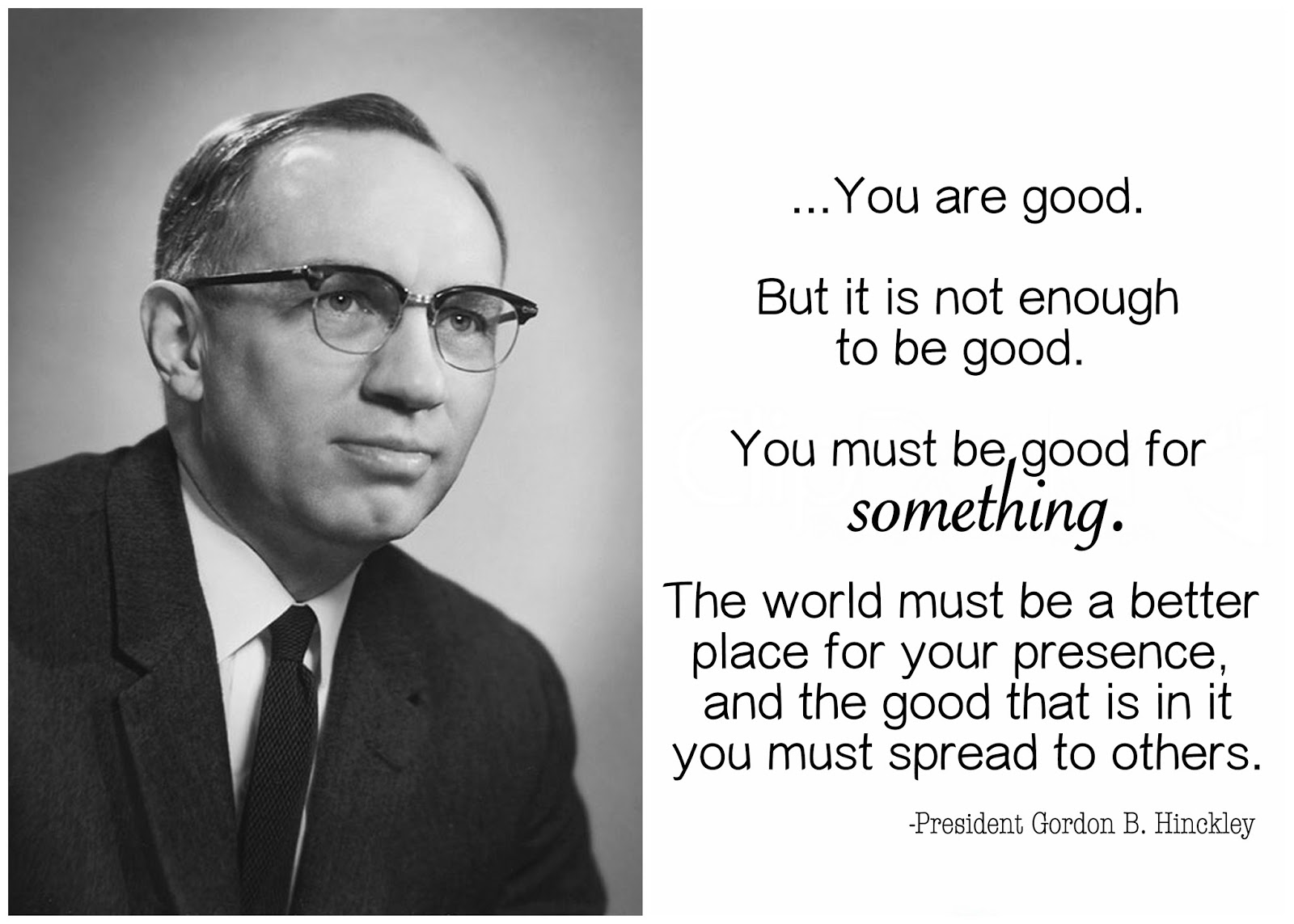 Gordon B Hinckley Quotes Kenna Hope Happy Birthday President Gordon Bhinckley