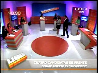 Video del debate entre mujeres candidatas en Uno Decide Red Uno
