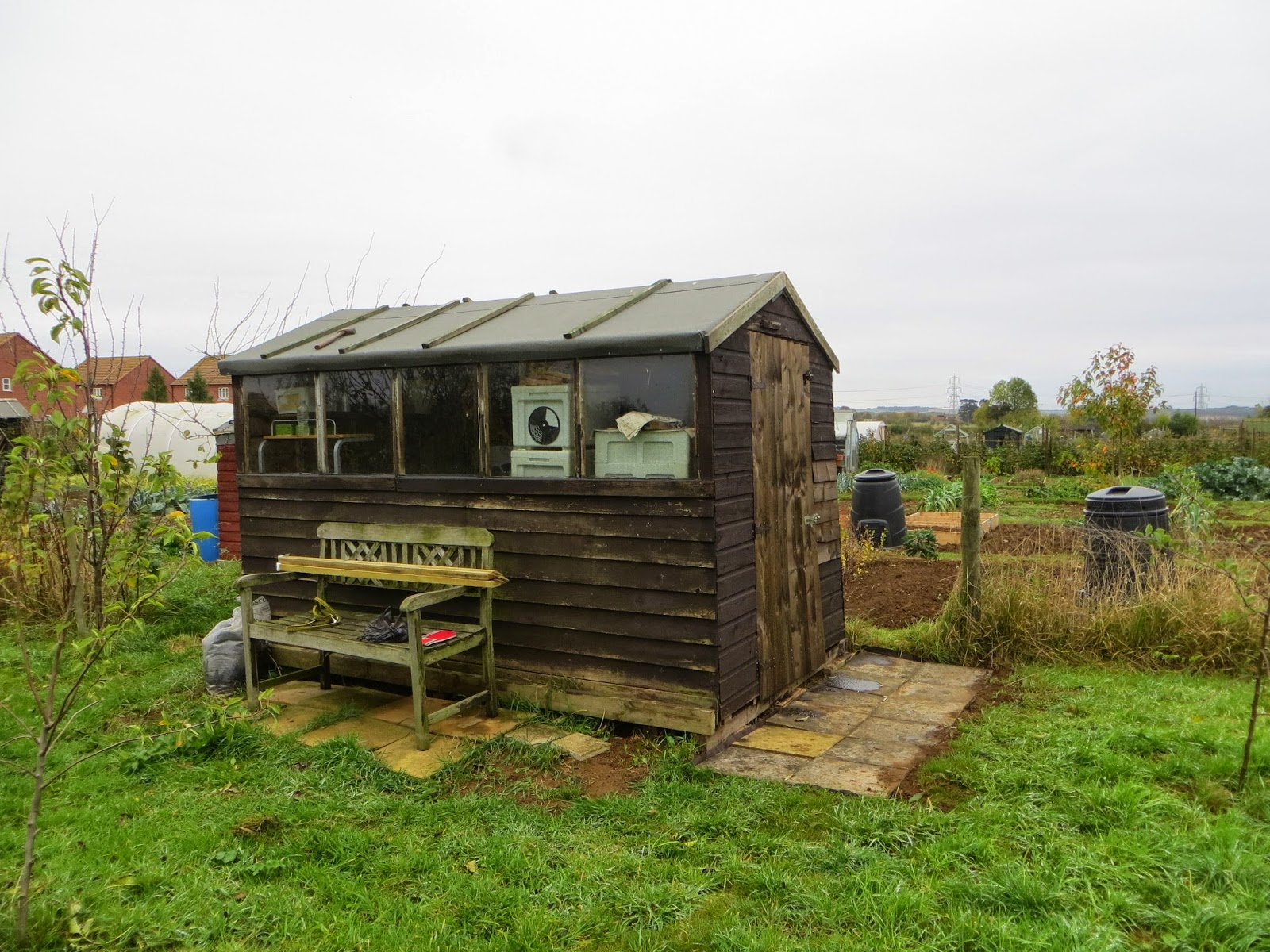 old shed to new shed.