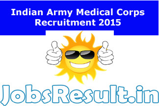 Indian Army Medical Corps Recruitment 2015