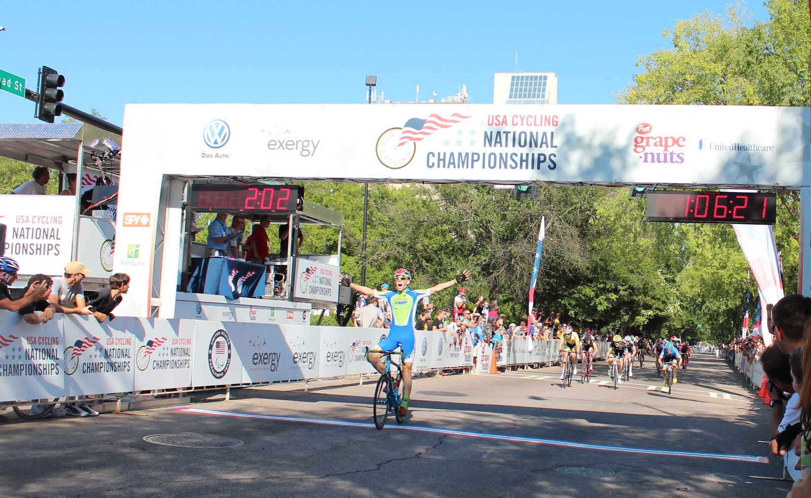 KMS/Start House's Brendan Rhim wins the 17-18 National Criterium Championships in Augusta, GA!